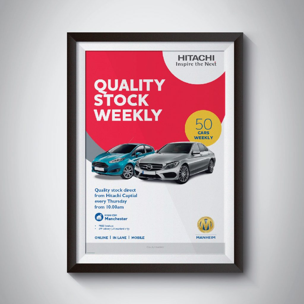 Manheim Motor Auctions traditional advertising poster