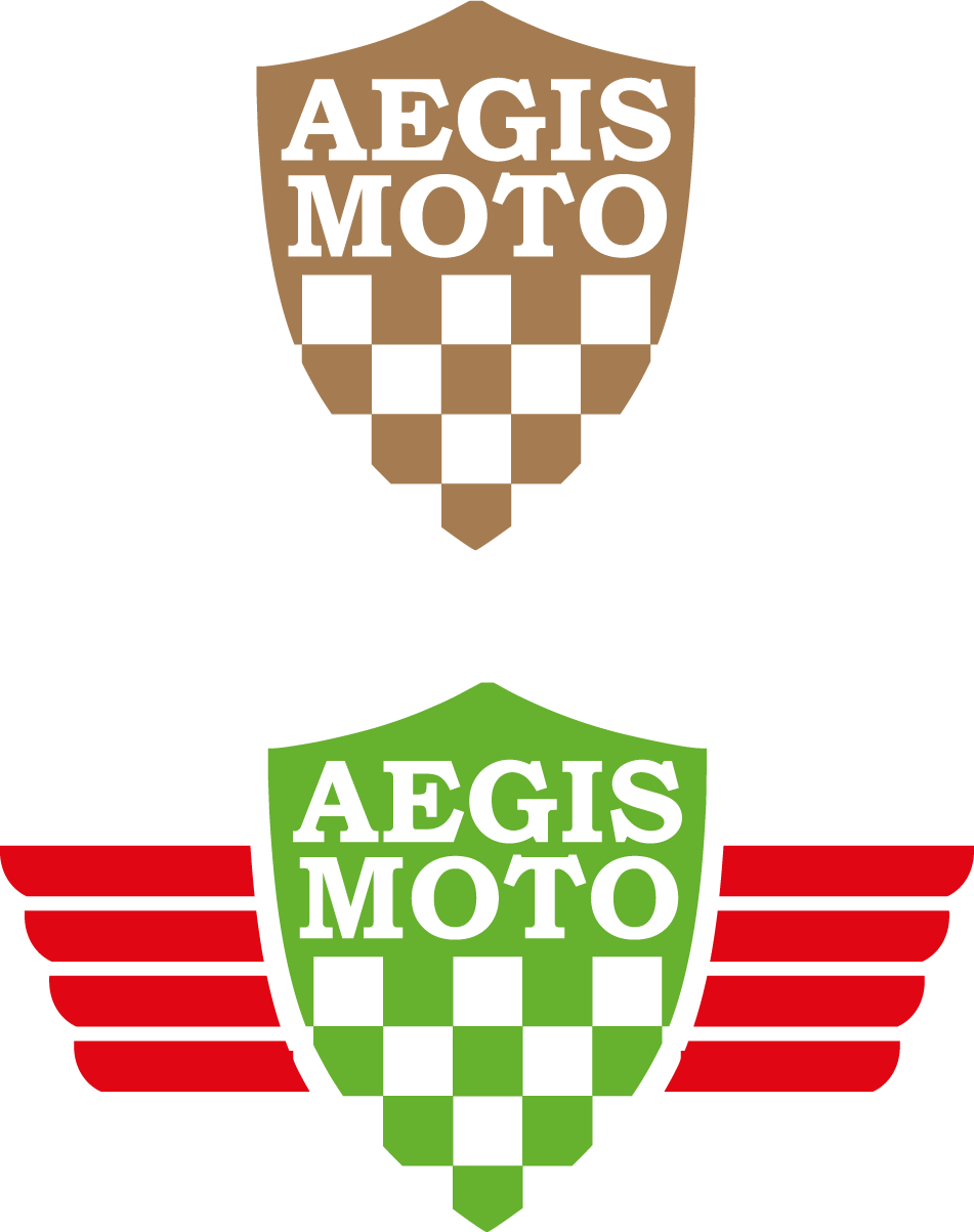 Aegis moto logo atop one another
