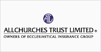 Our clients, Allchurches trust limited logo on grey background