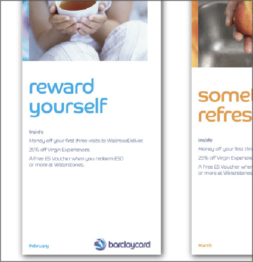 thumbprint media work Barclaycard email designs