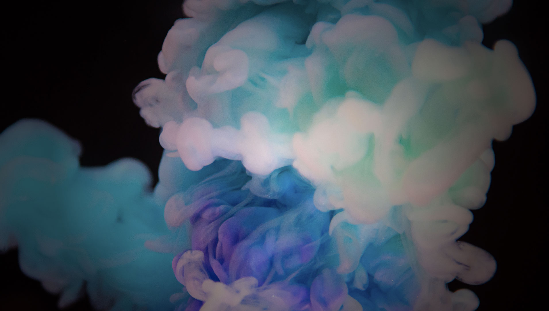 Clients slider background of smoke clouds on a black background