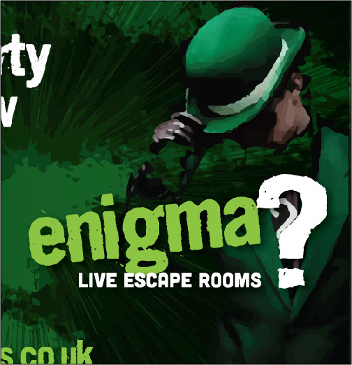 Thumbprint media work, Image of Mr Enigma of the Enigma Rooms