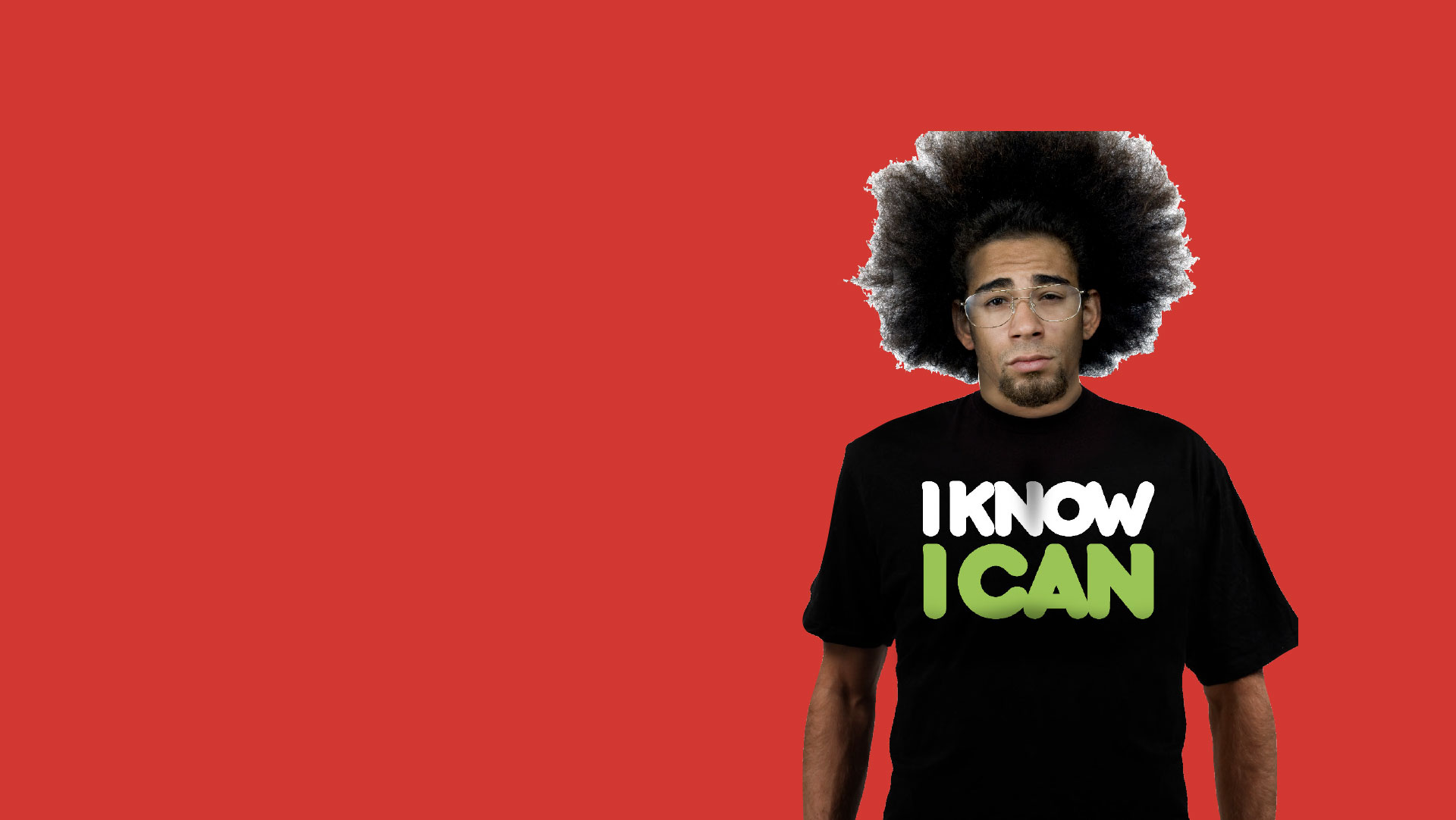 I know I can logo on model wearing a black t shirt with red background