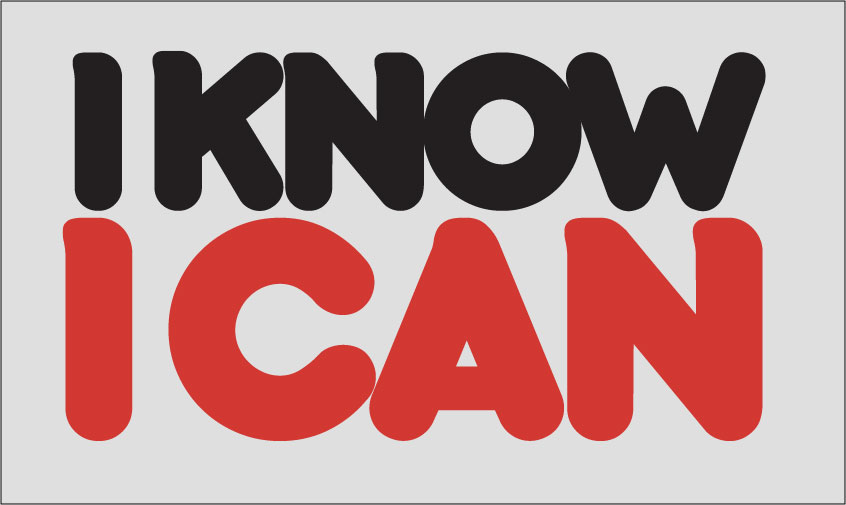 I know I can logo in black and red on a grey background