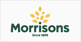 Our clients, Morrisons logo on grey background