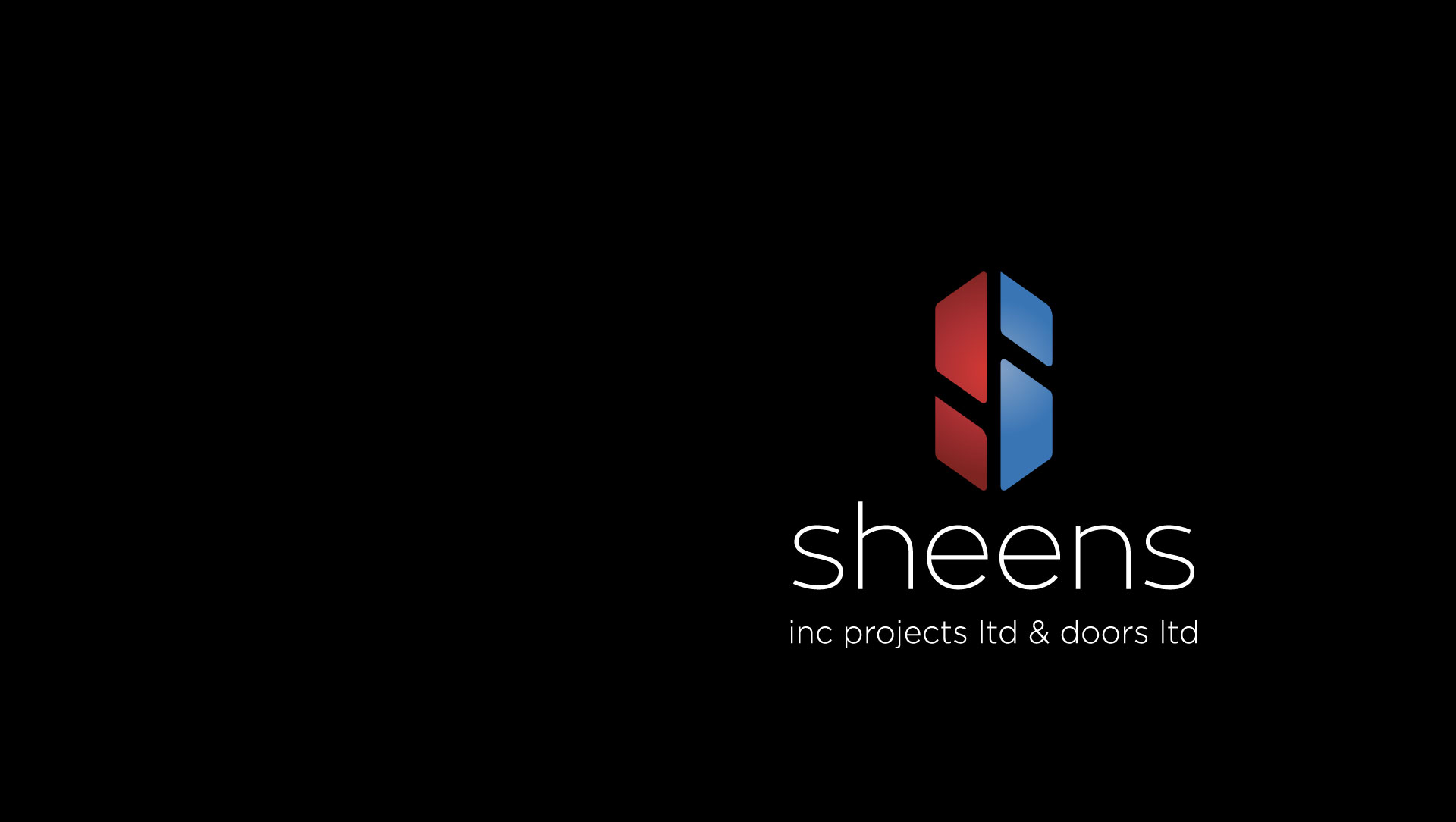 Sheens logo on black background