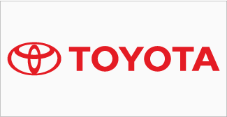 Our Clients, Toyota Logo on grey background
