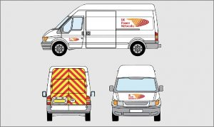 UK Power Networks design for the van signage following brand guidelines